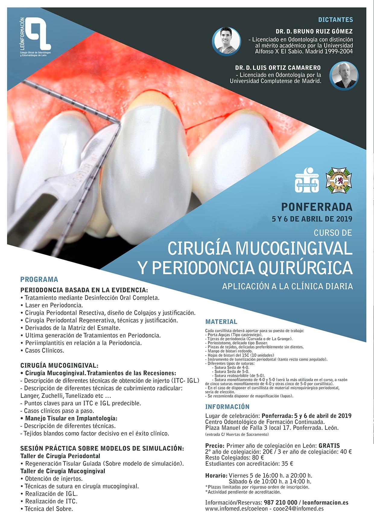 Curso de Cirugía Mucogingival y Periodoncia Quirúrgica