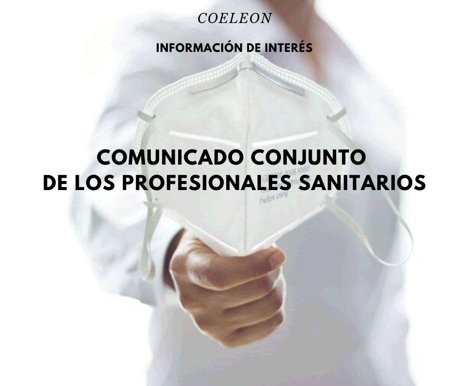 Comunicado conjunto de los profesionales sanitarios