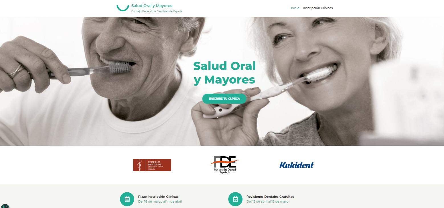 Inscribe tu clínica en la Campaña Salud Oral y Mayores