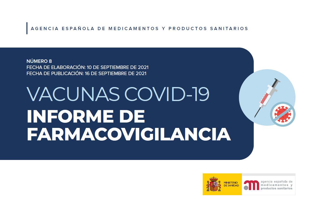 8º Informe de Farmacovigilancia sobre vacunas COVID-19
